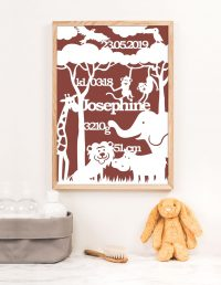 foedselstavle-dyr-safari-personlig-baby